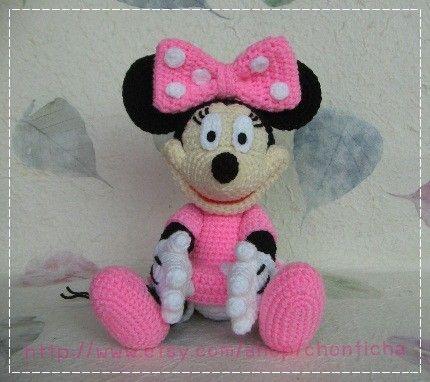 Minnie Mouse 10 inches - PDF amigurumi crochet pattern | Crocheting ...