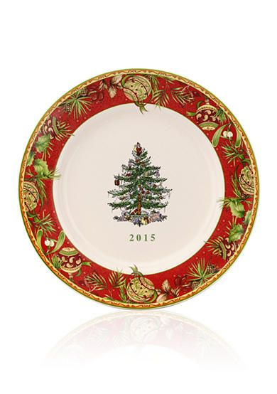 Spode 2015 Annual Christmas Tree Collector Plate 8 In With Images Spode Christmas Spode Christmas Tree Spode