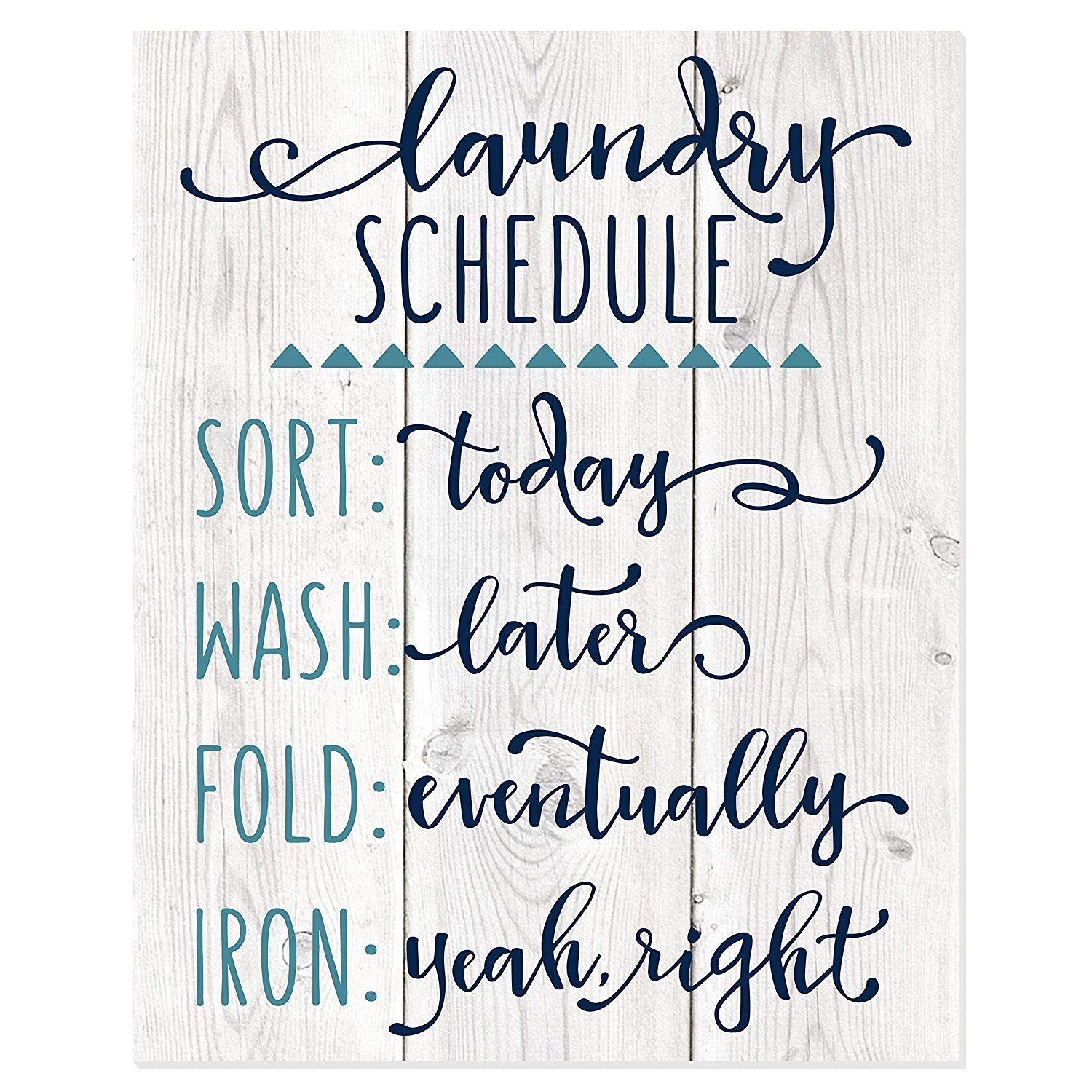 Mrc Wood Products Laundry Schedule Funny Wall Sign Ad Afflink
