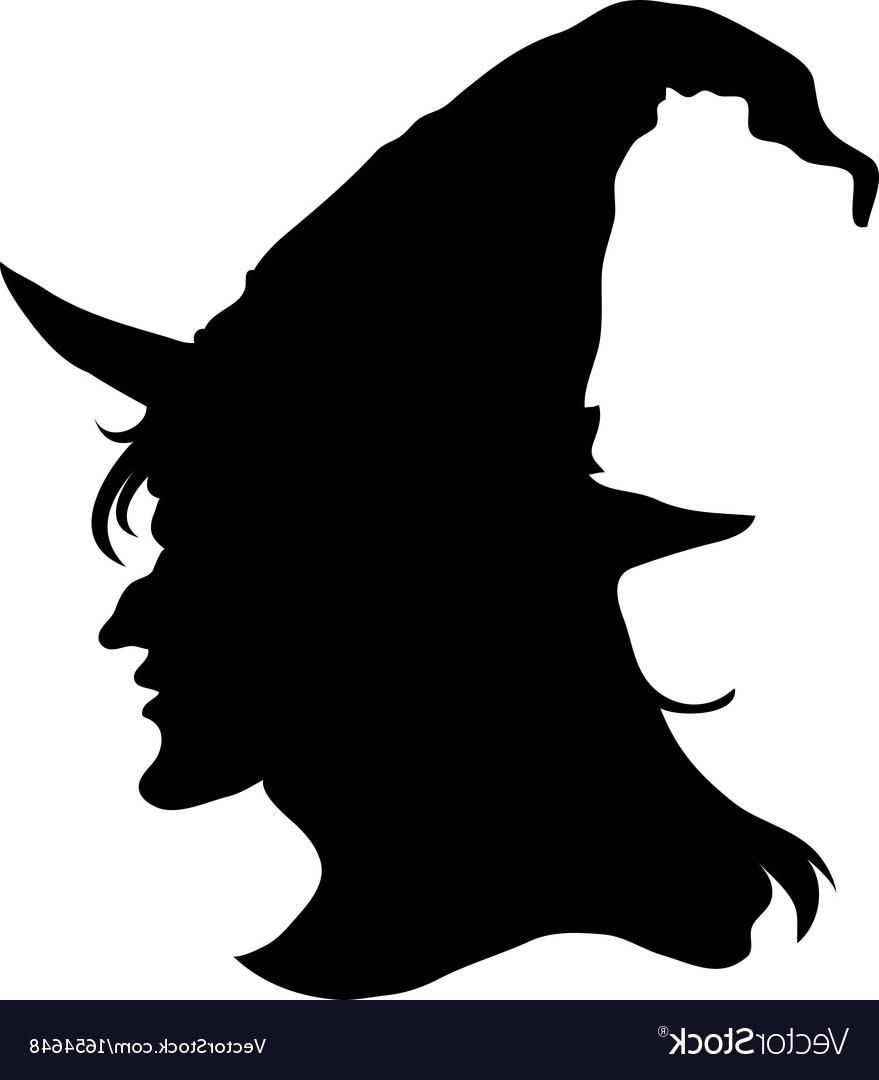 Best HD Halloween Witch Head Silhouette Vector Library