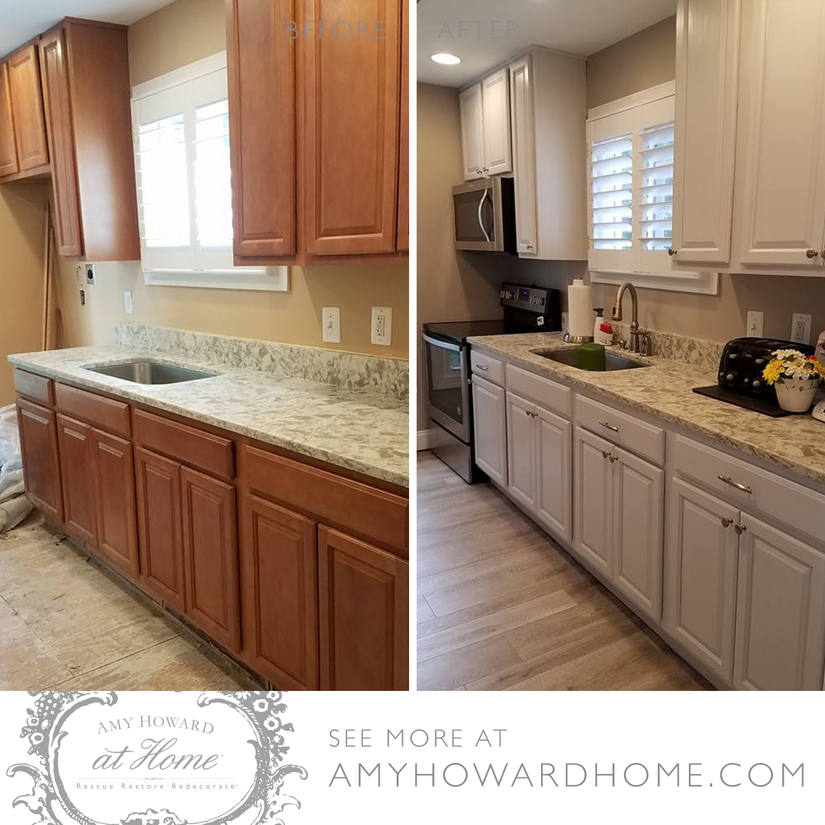 Amy Howard At Home Customer Crafterygirl Updated Her Kitchen With Chelsea Square One St Refinishing Cabinets Cheap Kitchen Cabinets Kitchen Inspiration Design