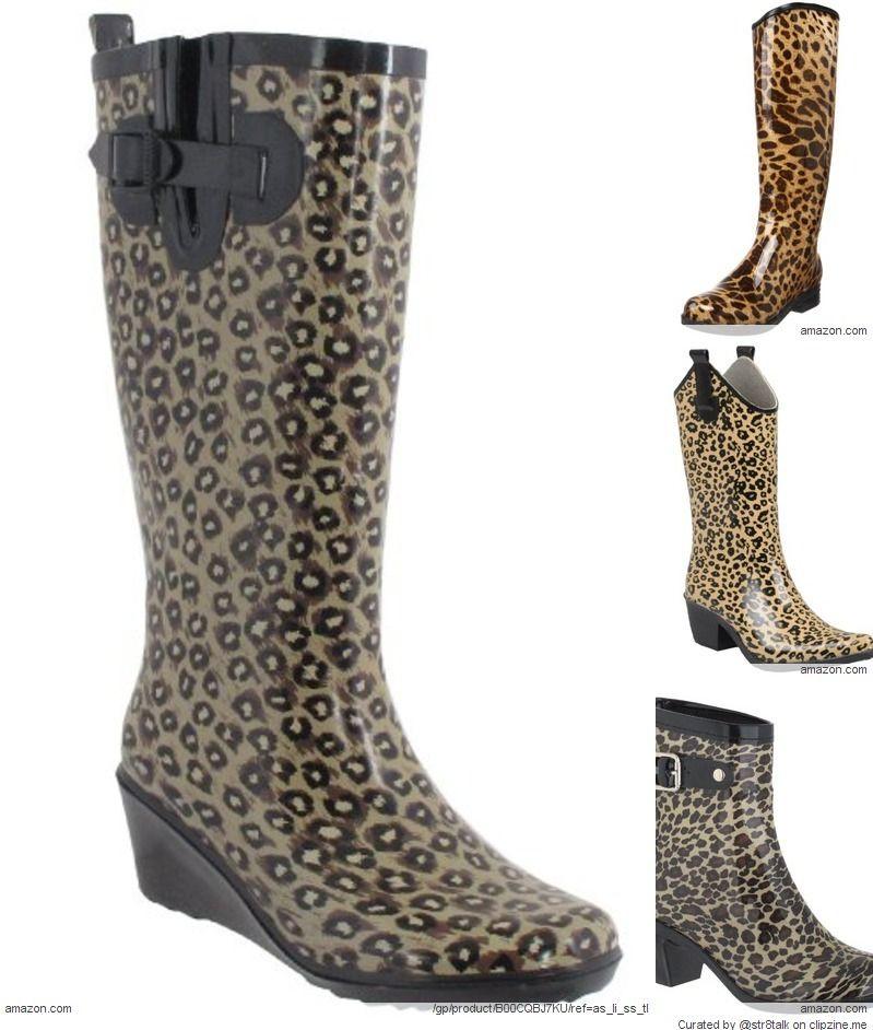 46b5d83ed6b5 Leopard Print Rain Boots for Women