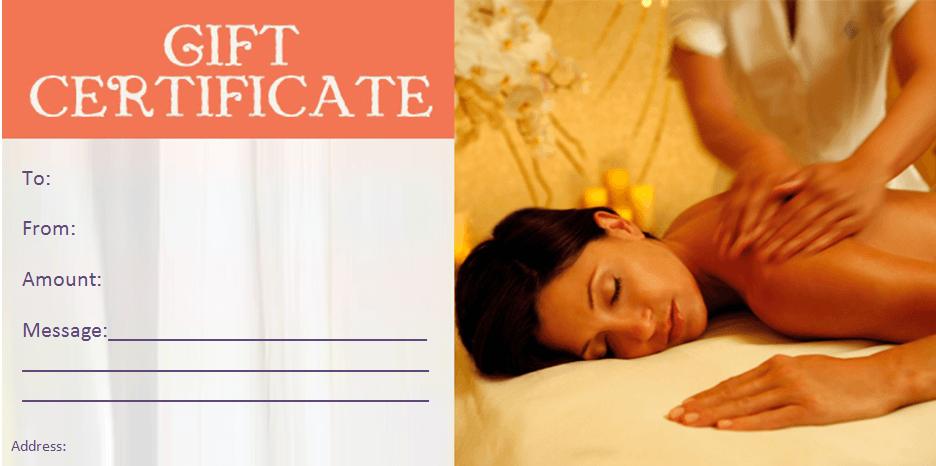 Beauty gift certificate templates by www