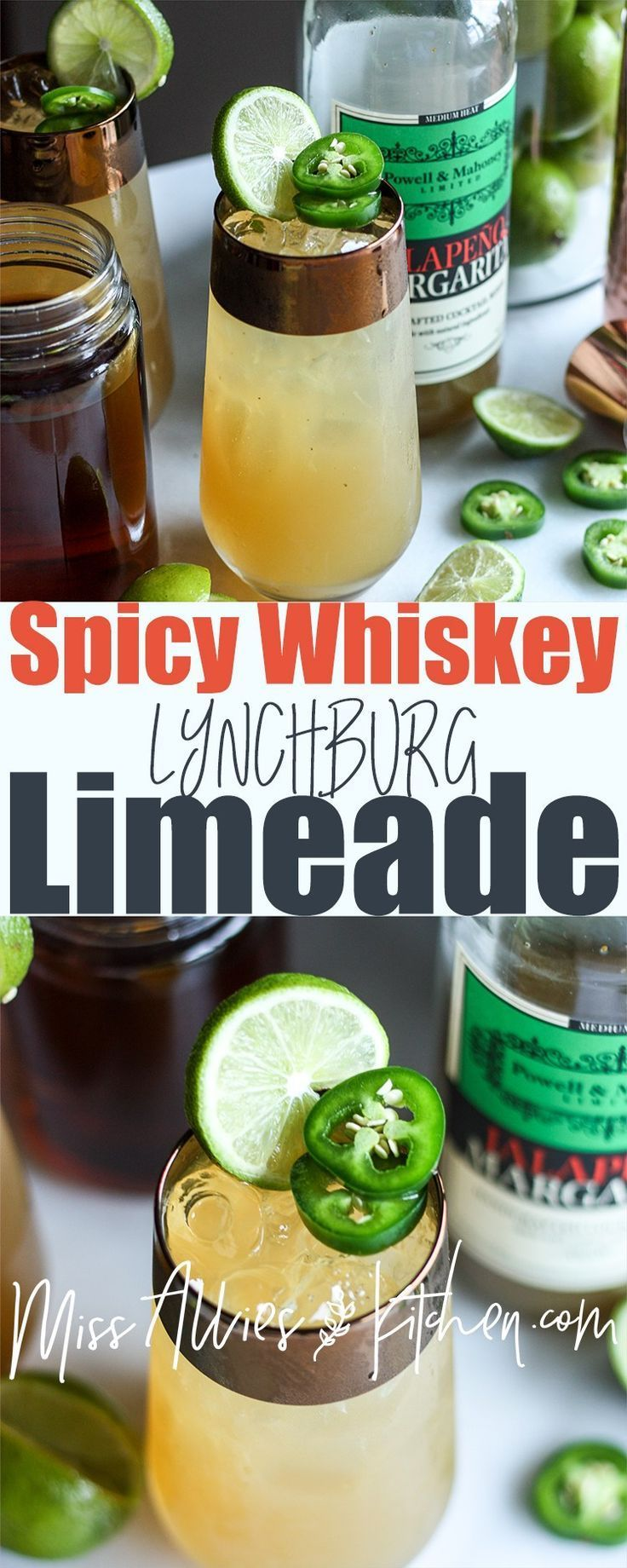 Photo of Spicy Whiskey Lynchburg Limeade – Miss Allie's Kitchen