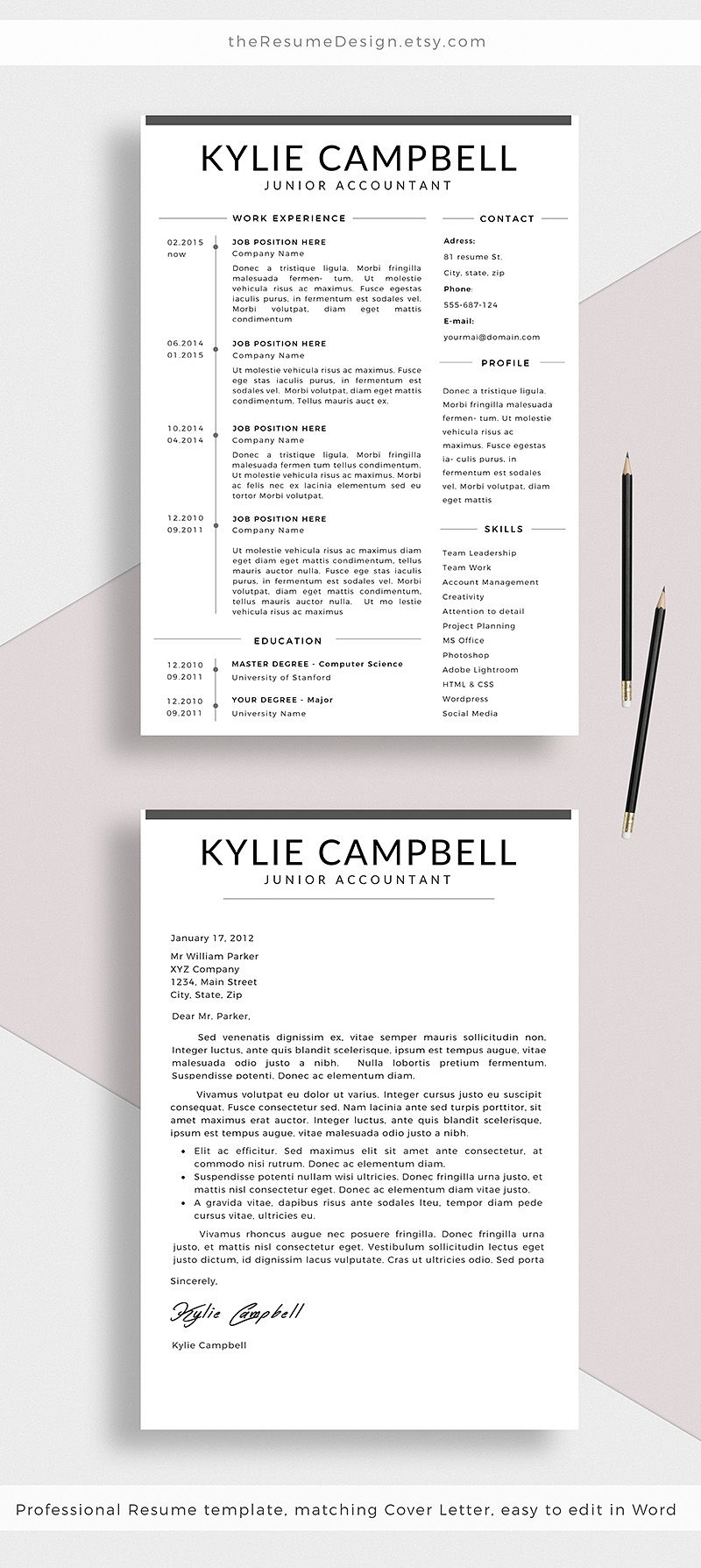 new simple and clean resume template  stand out from the crowd with our professional designs