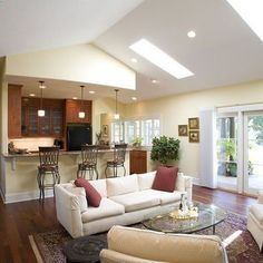 Attractive Bedroom Living Room Combo Ideas | Kitchen Ideas On Open Living Room And Kitchen  Combination Designs