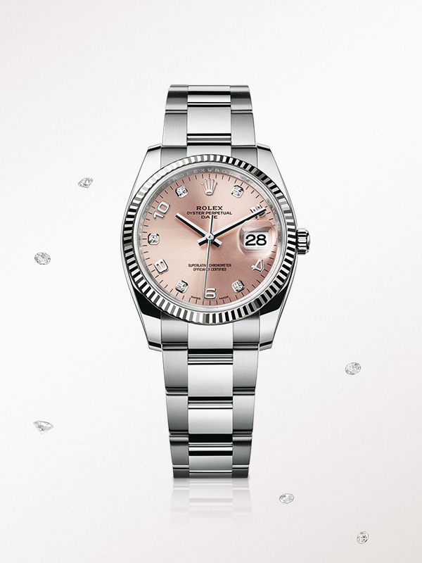 147f2b861284 The Rolex Oyster Date 34 in steel