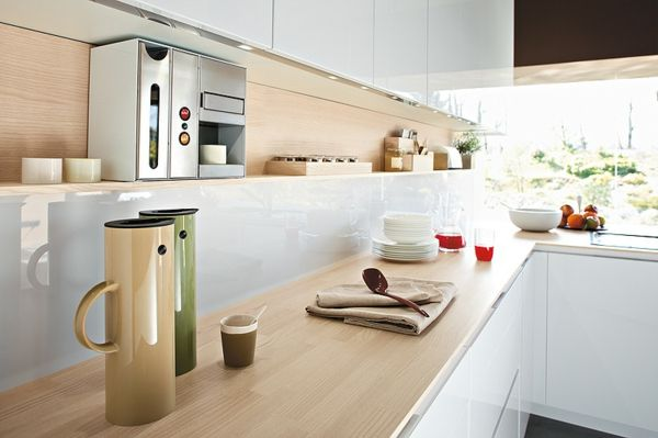 Nice Moderne Italienische Küche Orange Glas Awesome Ideas