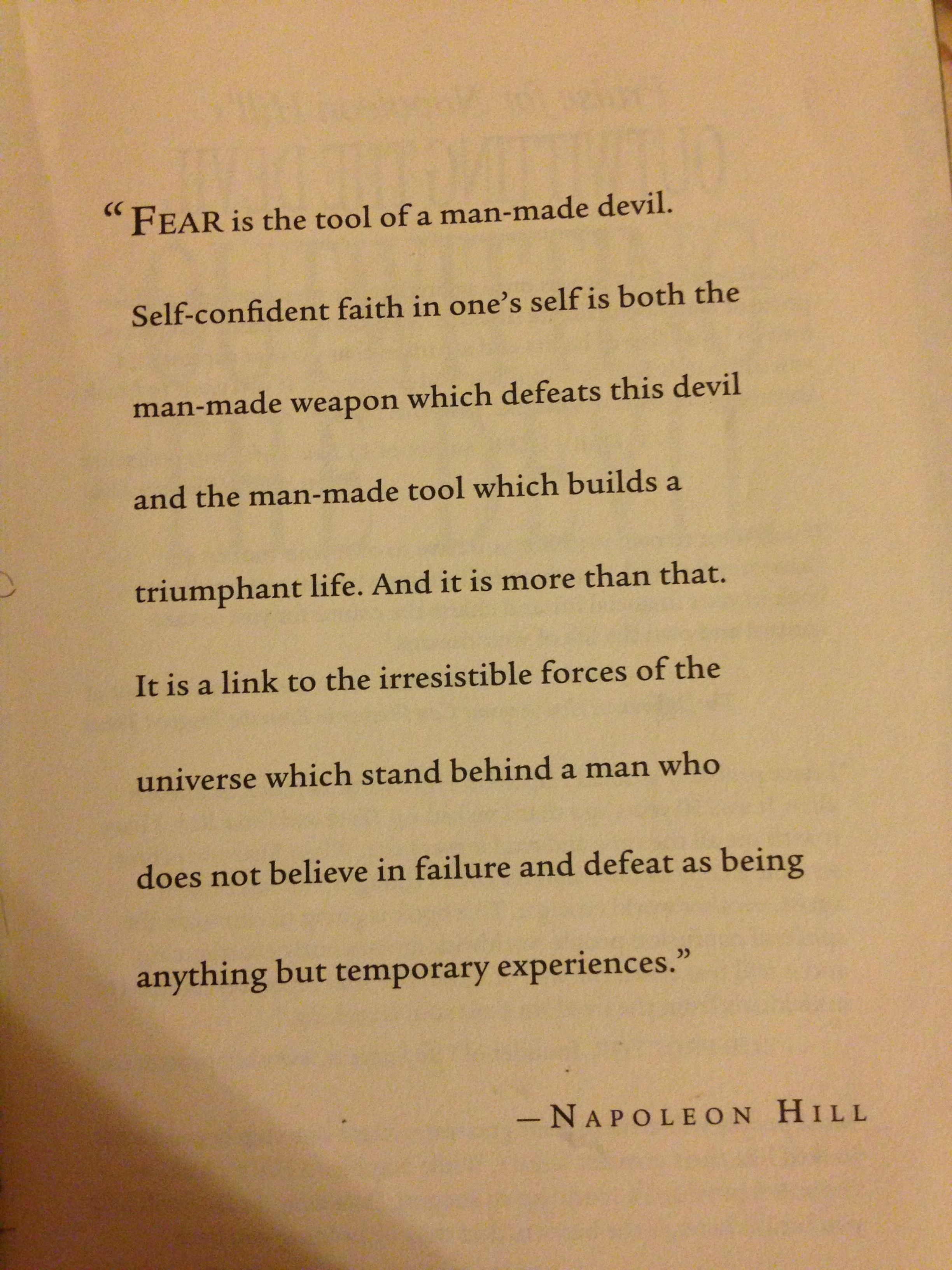 A Page From Outwitting The Devil Arbonne Fear Quotes Devil