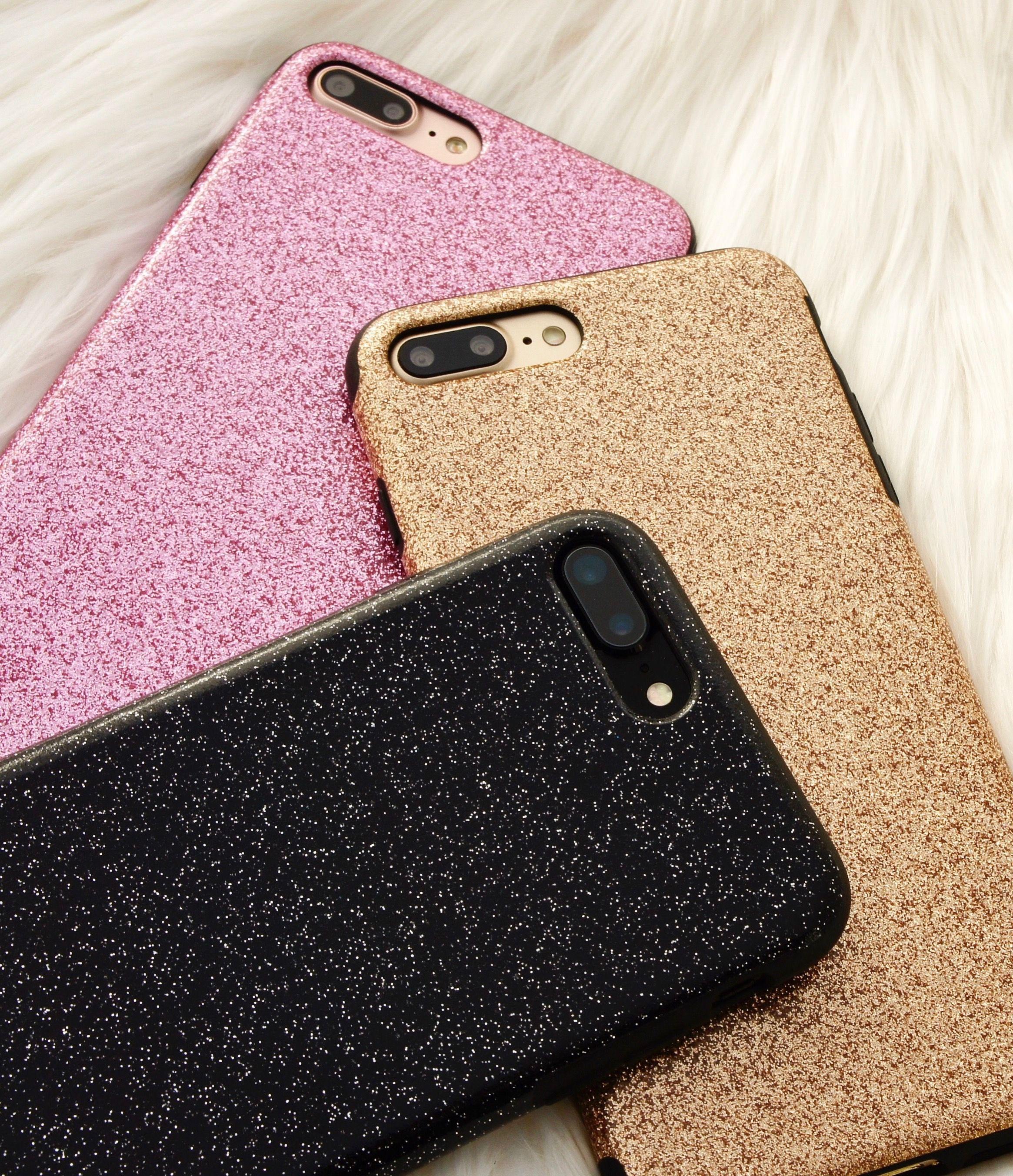 iphone 7 phone cases black glitter