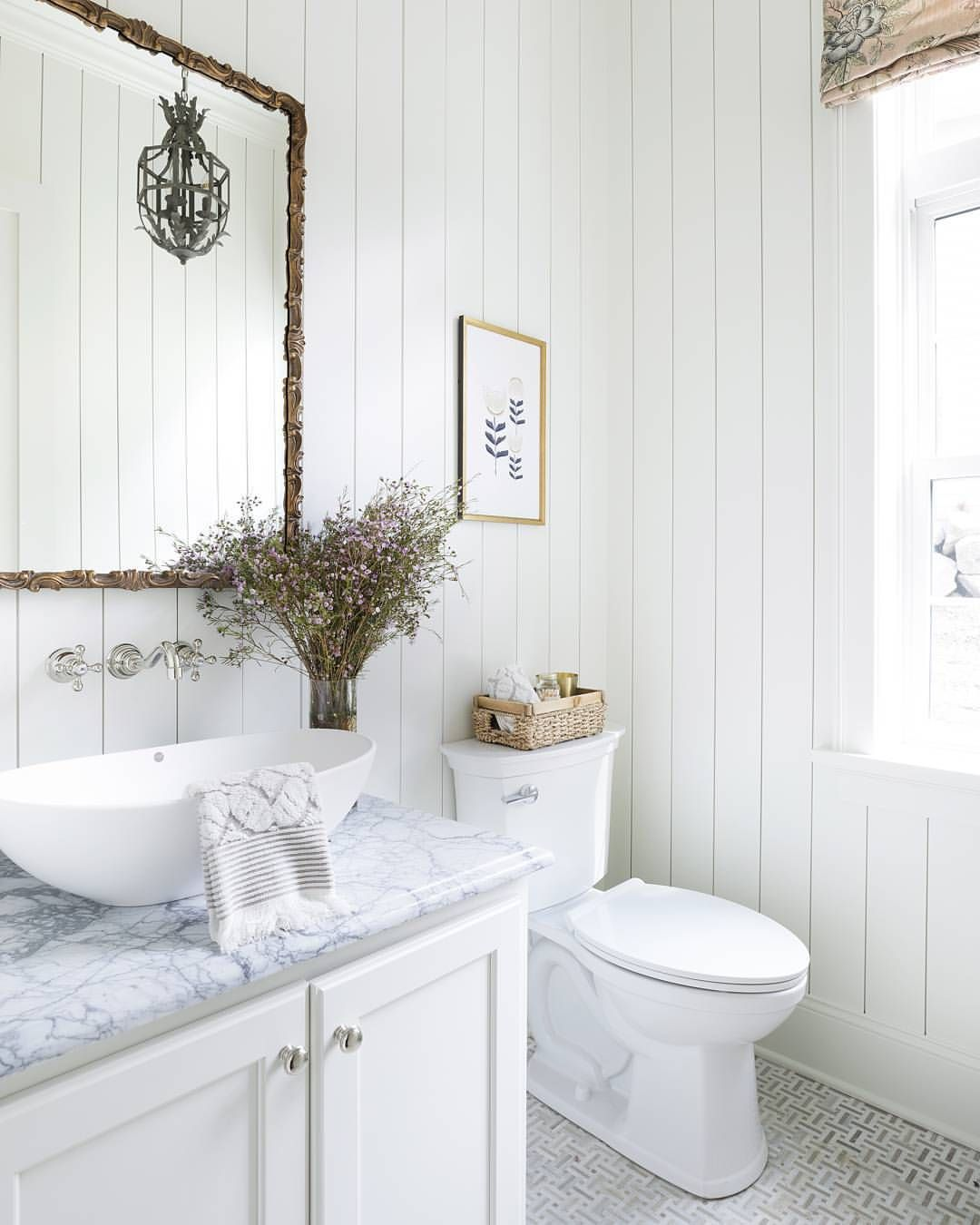 Vertical Shiplap Walls Bathroom: Pin By Michelle Allan On For The Home