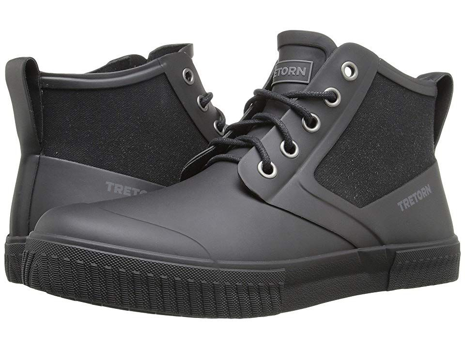 f66fcacc8 Tretorn Gill (Black/Black) Men's Lace up casual Shoes. When the water rises  you'll be glad to have your Tretorn Gills. Waterproof boot with mid-top ...