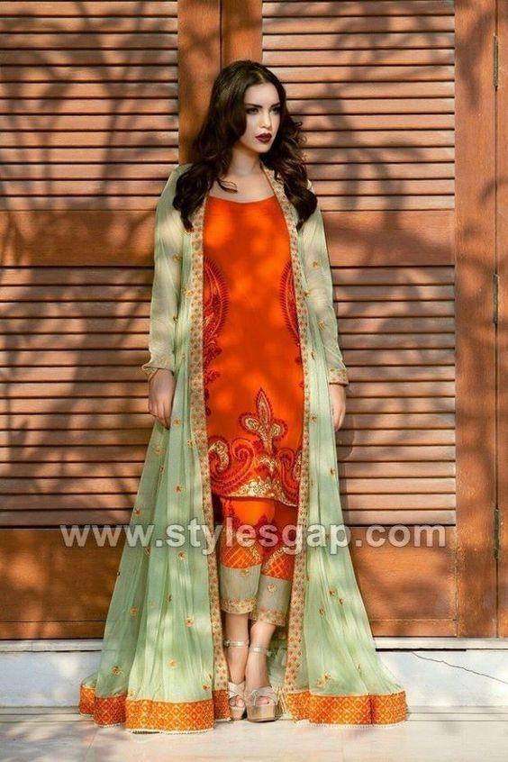 Front Open Double Shirt Dresses Designs Collection 2020 2021 Trends Indian Designer Outfits Pakistani Dress Design Party Wear Dresses