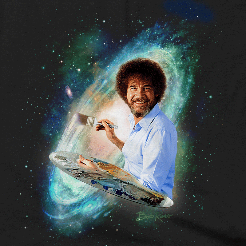 Bob ross bob ross pinterest bob ross bobs and paintings bob ross the joy of painting galaxy t shirts voltagebd Gallery