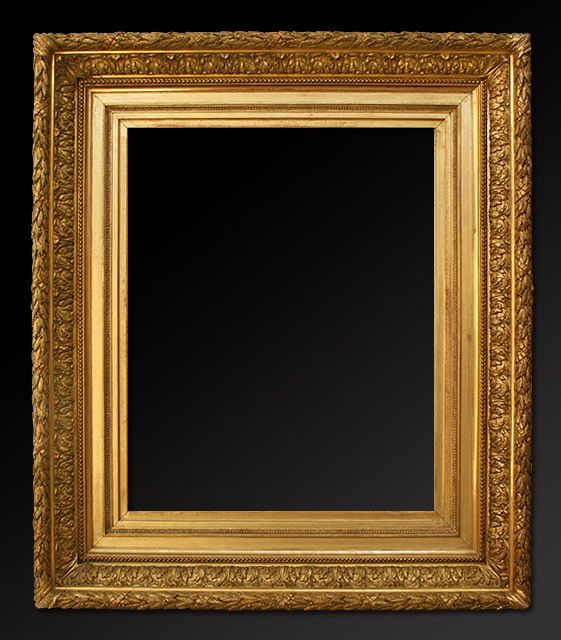 Old Picture Frames French Gilt Frame In Stucco Barbizon Style