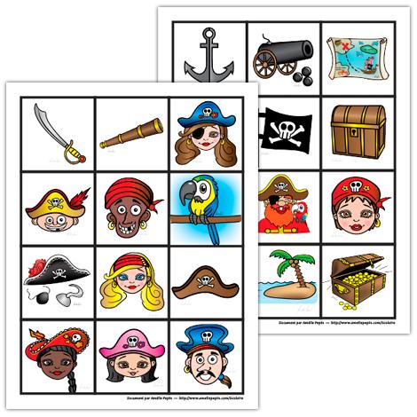 Jeu de mémoire, les pirates | océan : Jack le pirate | Pinterest ...