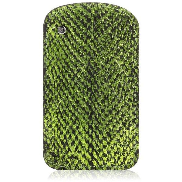 Nina Peter Green Salmon Skin Phone Case ($105) ❤ liked on Polyvore featuring accessories, tech accessories, green and nina peter