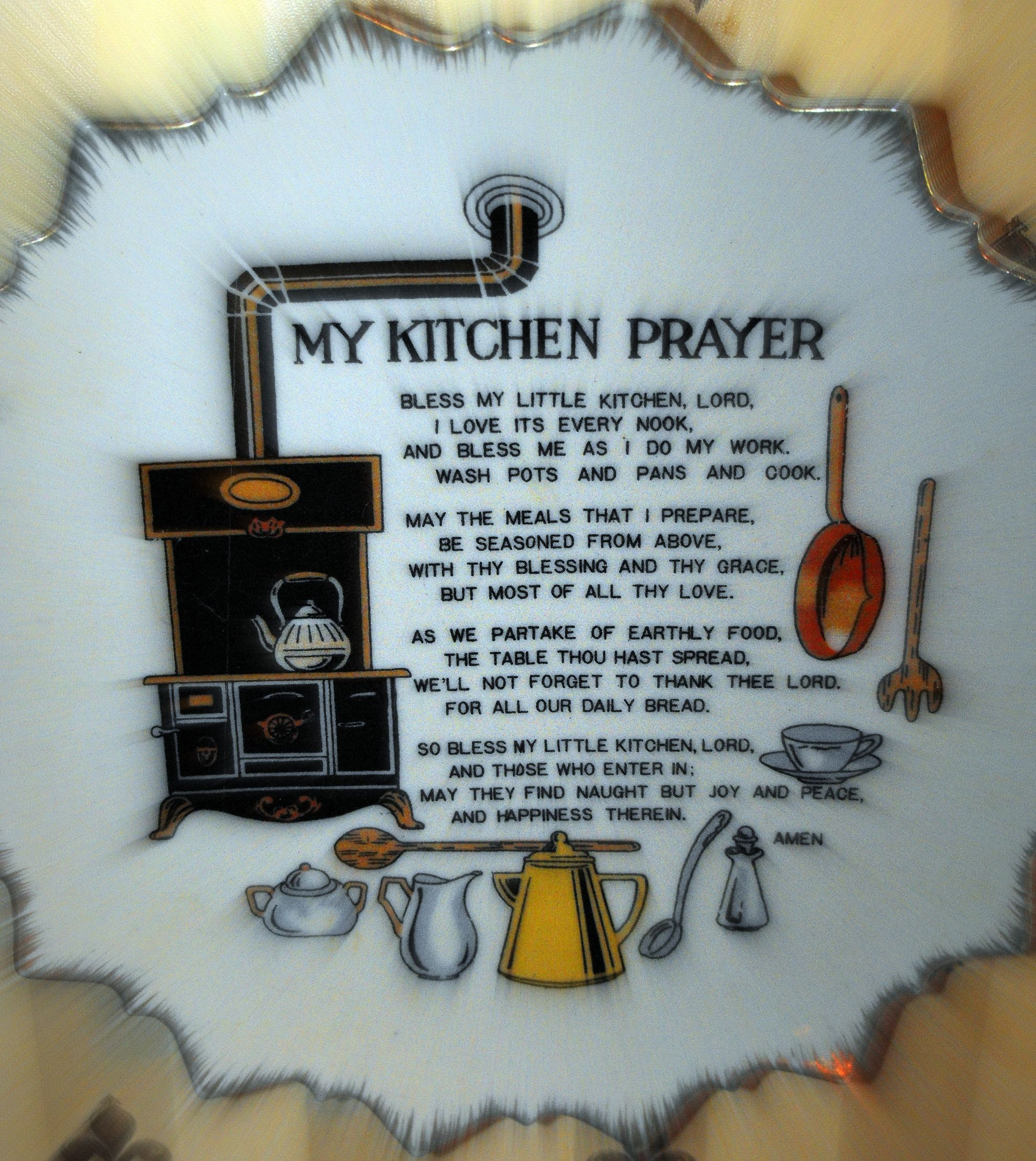 Kitchen Print Kitchen Wall Art Purple Kitchen Decor Gratitude: My Kitchen Prayer