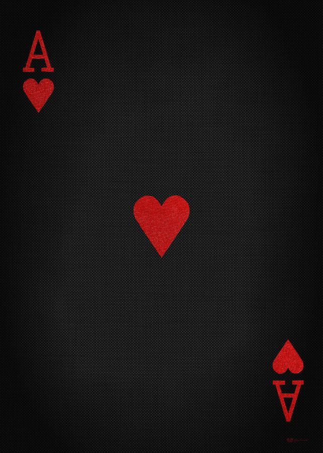 Gambling Digital Art Ace Of Hearts In Red On Black Canvas By Serge Averbukh Red And Black Wallpaper Red And Black Background Ace Of Hearts
