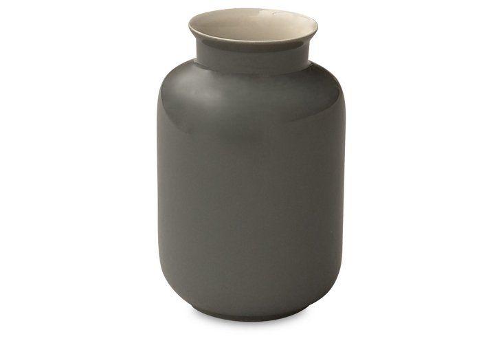 "5"" Porcelain Milk Jar, Gray $20"
