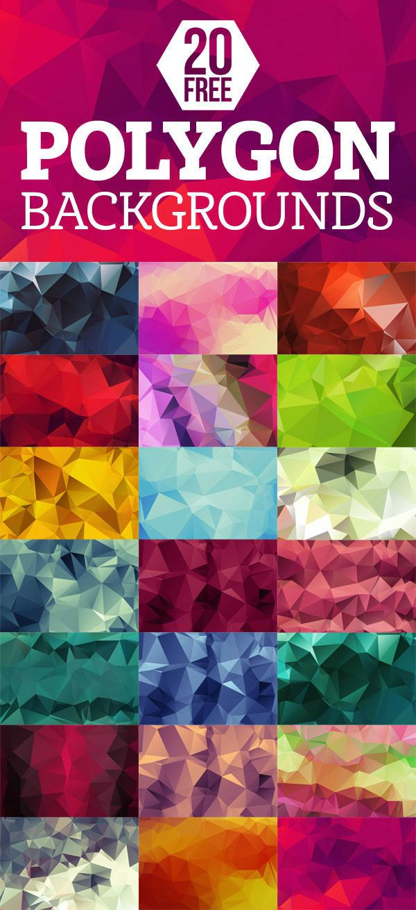 Graphic Design / 20 free polygon backgrounds