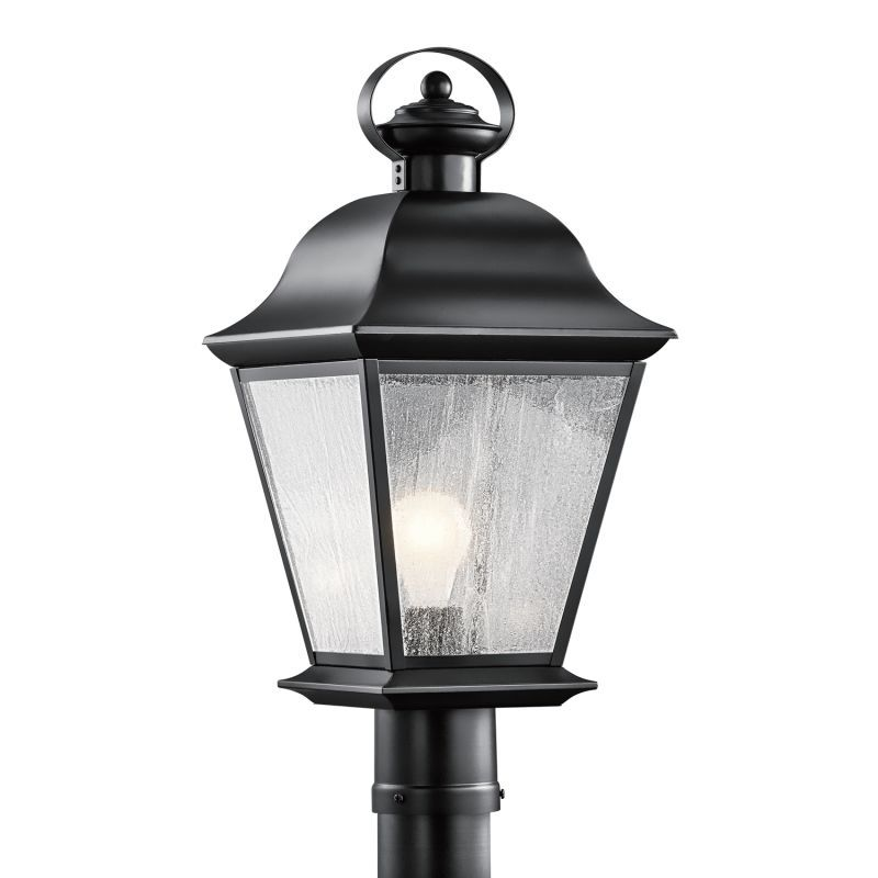 kichler 9909 mount vernon single light 21 height outdoor post
