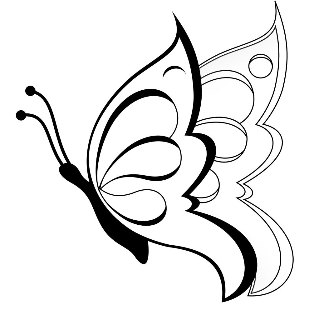 990x1024 simple butterfly sketch simple drawing of a