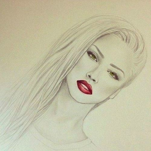 draw red lips