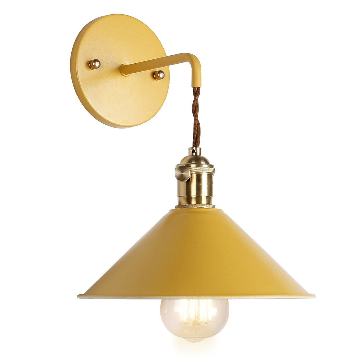 Iyoee Wall Sconce Lamps Lighting Fixture With On Off Switch Khaki