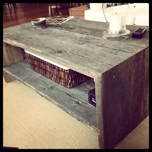 restored wood coffee table muskoka style jessica nichols