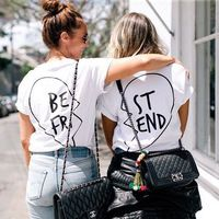 Best Friend Back Design White T shirt Set 2 Piece tees Women Men Unisex  Tops Fashion Clothing t shirt tshirts