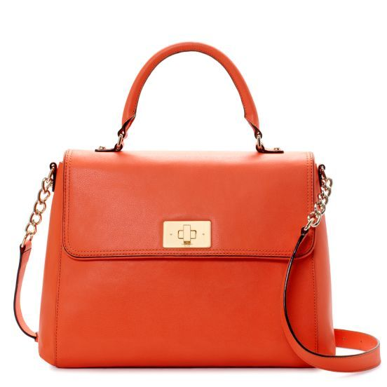 c9a3560c2003 Kate Spade Irving Place Nadine Leather Handbag in Carrot | My Style ...