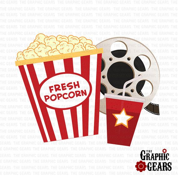 Popcorn Film Reel And Soda Clip Art Pop Corn Clip By Graphicgears 2 00 Cinema Art Printable Pictures Pop Art