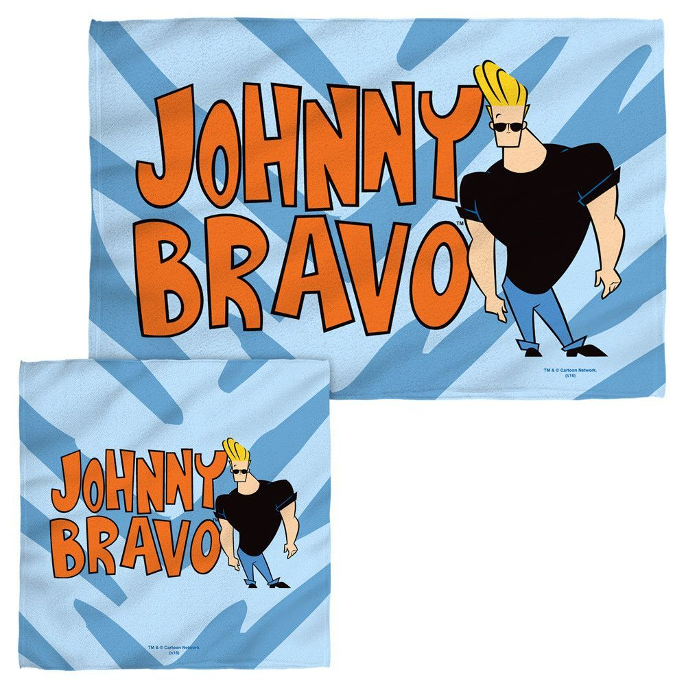 Johnny Bravo Logo Face and Hand Towels