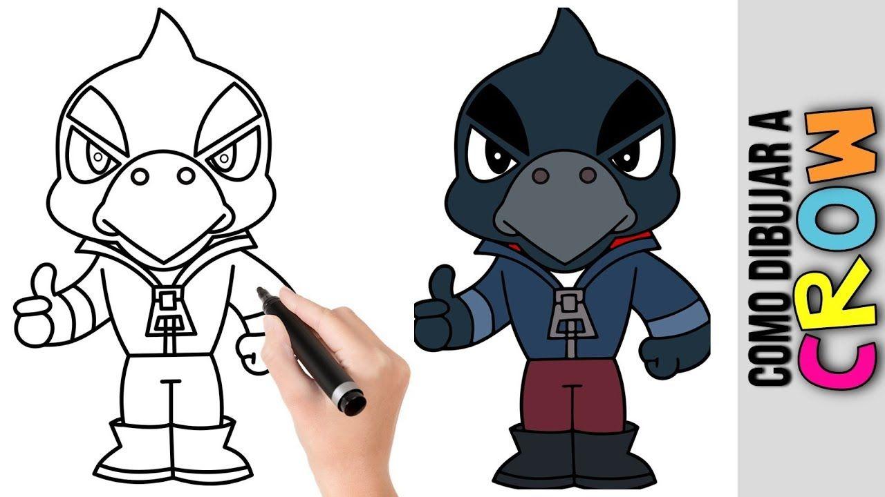 Como Dibujar A Crow De Brawl Stars ★ Dibujos Fáciles Para ...
