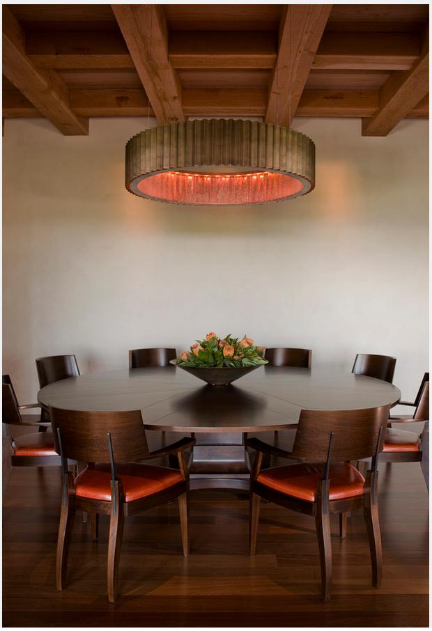 Comedor redondo me gustan las sillas con un toque de for Comedor redondo de madera