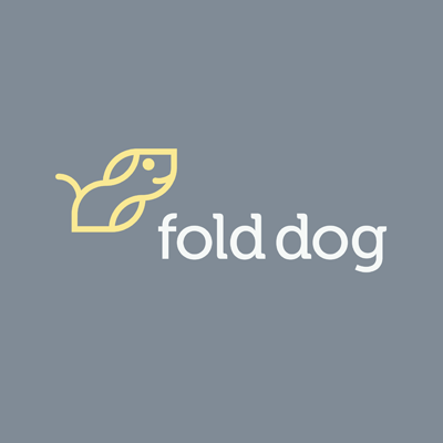 fold dog | Logo Design Gallery Inspiration | LogoMix