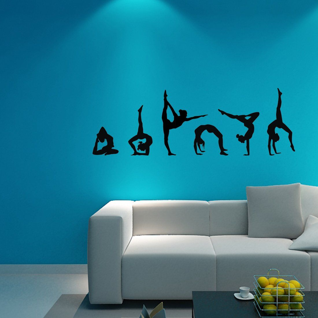 Easma Gymnastics Wall Decals Silhouettes Sport Art Girl