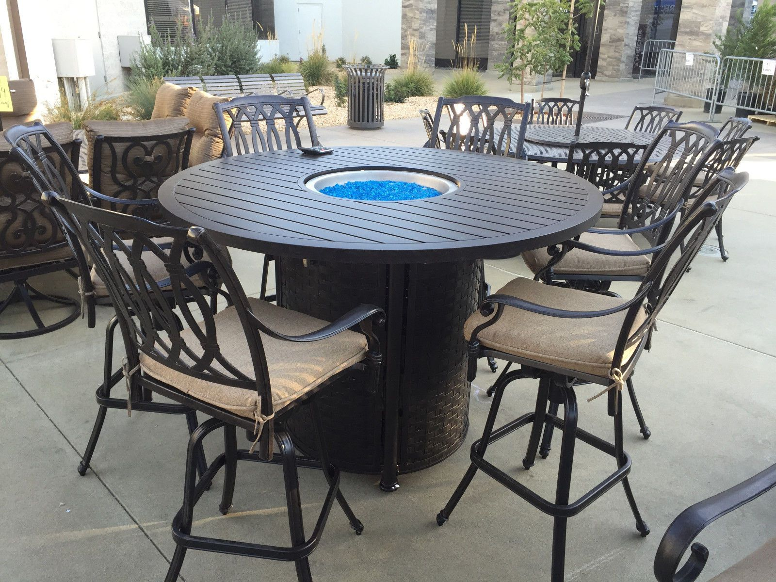 fire bar bar height patio table pinterest bar height patio