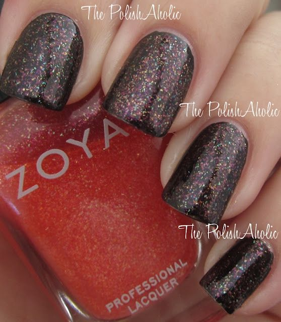 Zoya - Soho Punch (pictured over black)