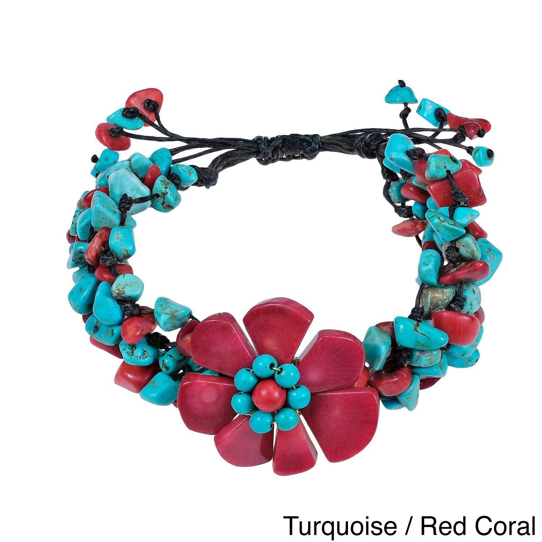 Handmade Mixed Stones Organic Pull Bracelet