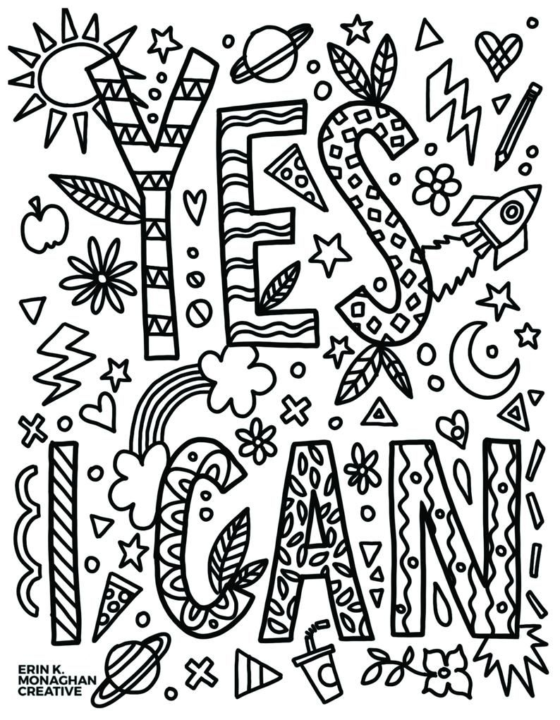 Determination Pack Growth Mindset Worksheets And Coloring Sheets For Kids Quote Coloring Pages Coloring Pages Free Coloring Pages
