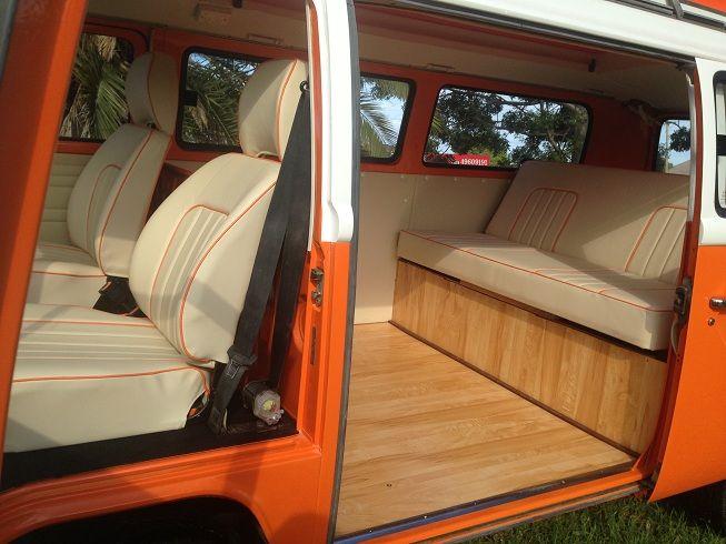 Vw kombi 1977 orange crush interior vw bus make over for Vw kombi interior designs