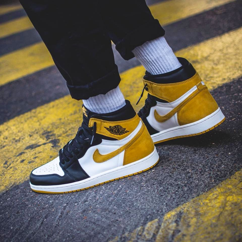 Nike Air Jordan 1 Best Hand In The Game - Yellow Ochre - 2018 (by soggiu23) b143b8a7d