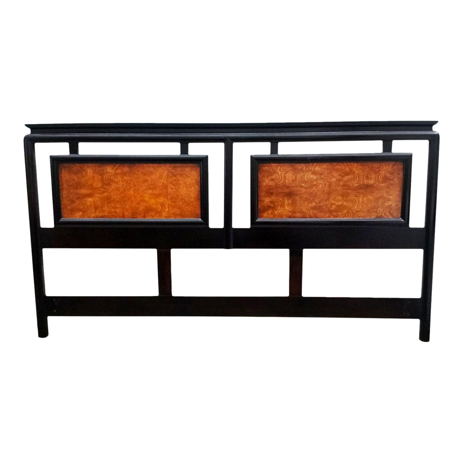 century furniture burl and laquer king headboard from the chin hua