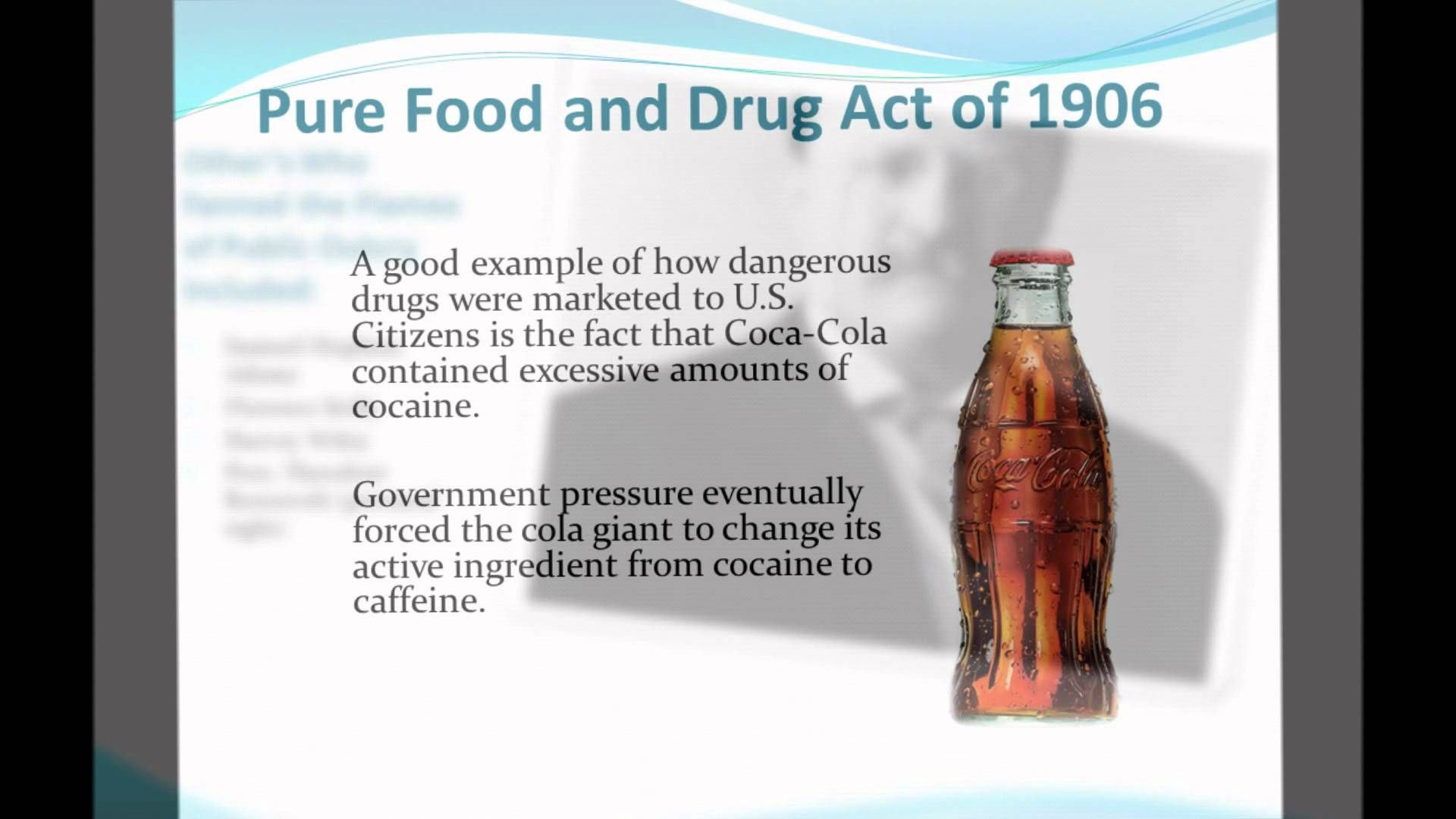 pure food and drug act ap gov definition