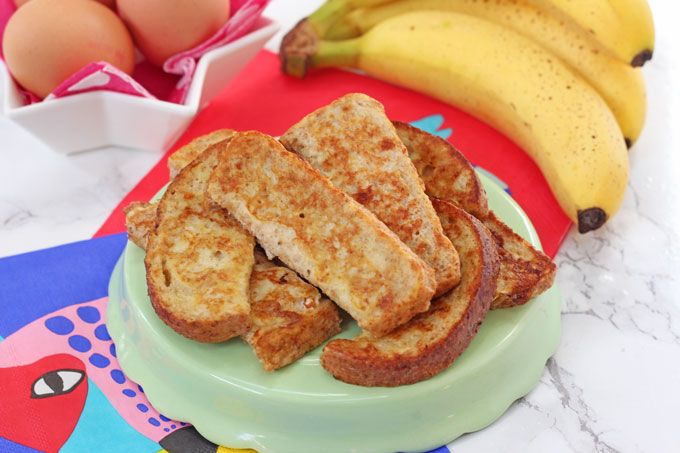 Baby French Toast Eggy Banana Bread Recipe Baby Food Recipes Weaning Foods Baby Finger Foods