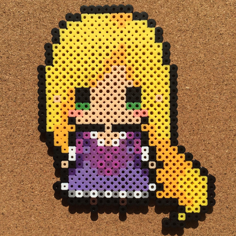 Rapunzel Tangled perler beads by tsubasa yamashita