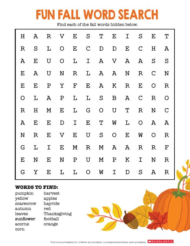 from pumpkin to hayride help your child find these fall inspired words perfect for the season
