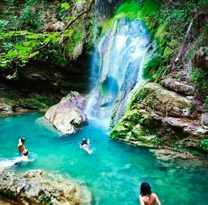 Crete, Greece waterfall   Greece travel, Athens greece